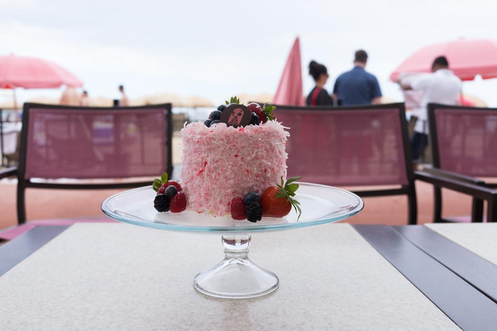 A whole Coconut Cake from Royal Hawaiian Hotel.