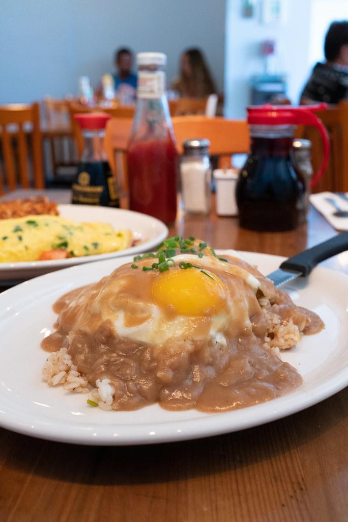 Loco Moco served at Moke's Bread & Breakfast on Oahu