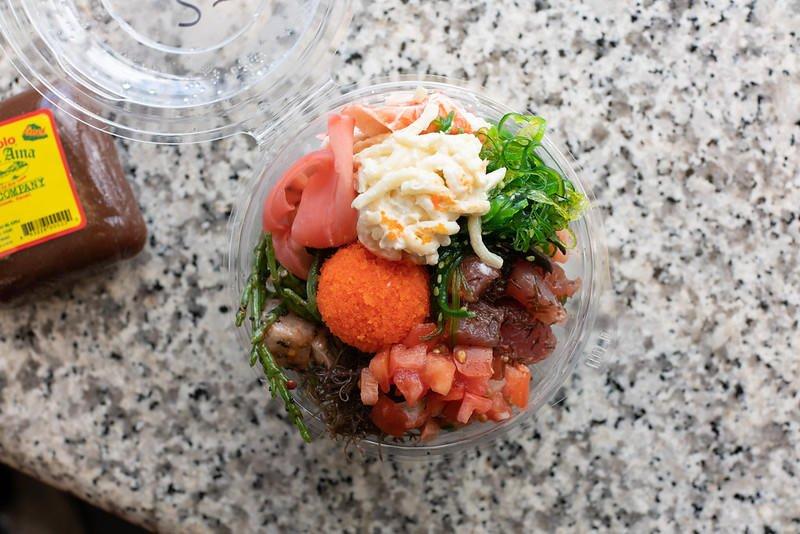 Mac salad (made with spaghetti noodles) at Fish Express (Kauai).