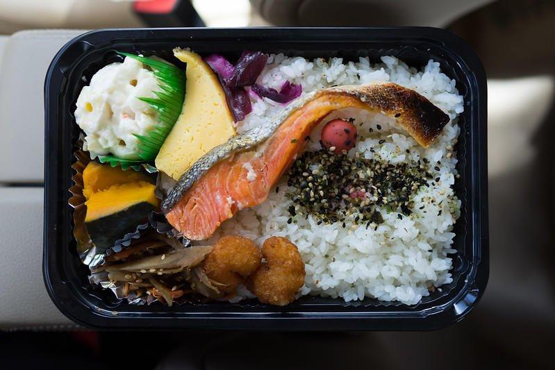 Mac salad with a bento at Ookini Onigiri.