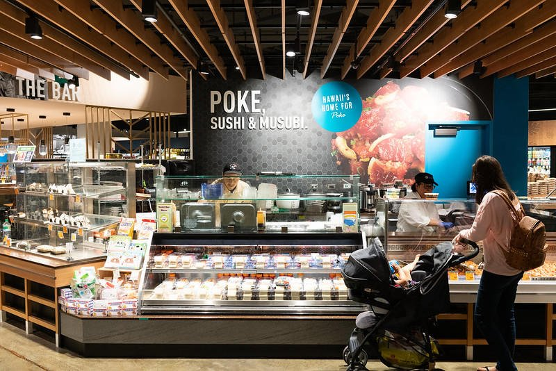 Poke counter at Foodland (Oahu location)