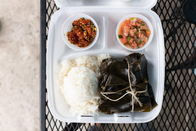 A Hawaiian Plate from Yama's Fish Market.