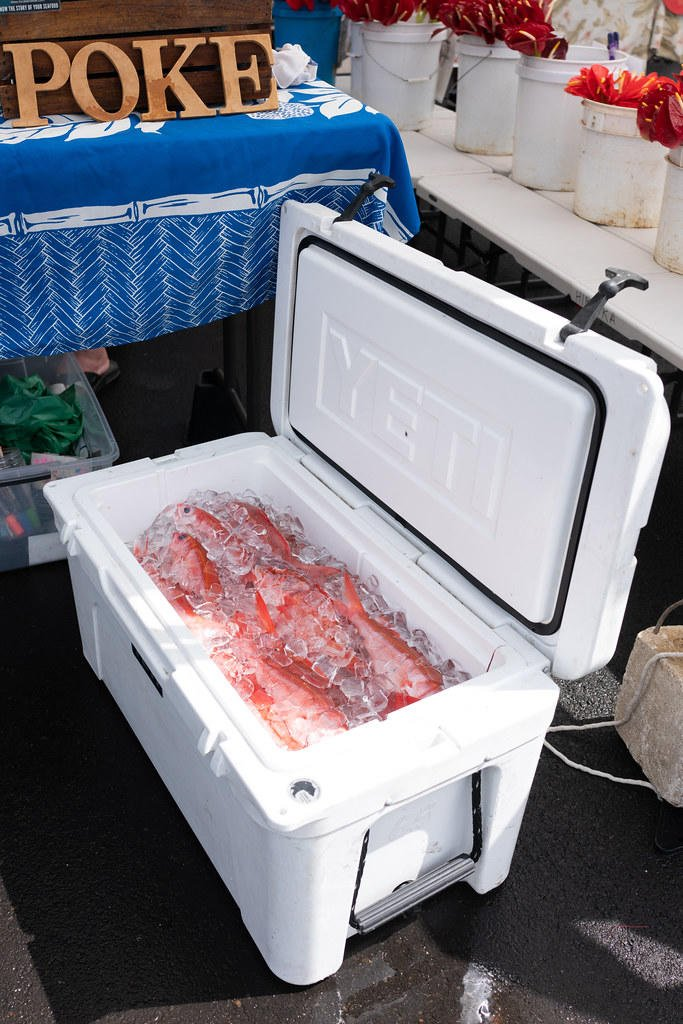 A cooler full of fresh fish from Local I'a