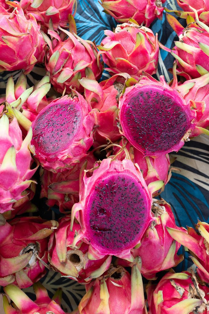 Pink Dragon Fruit at Kakaako Farmers Market