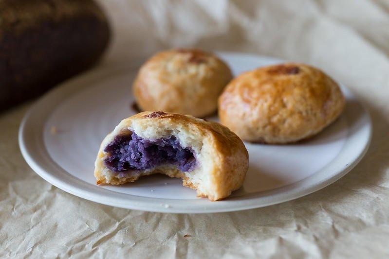 Purple Sweet Potato-Stuffed Manju