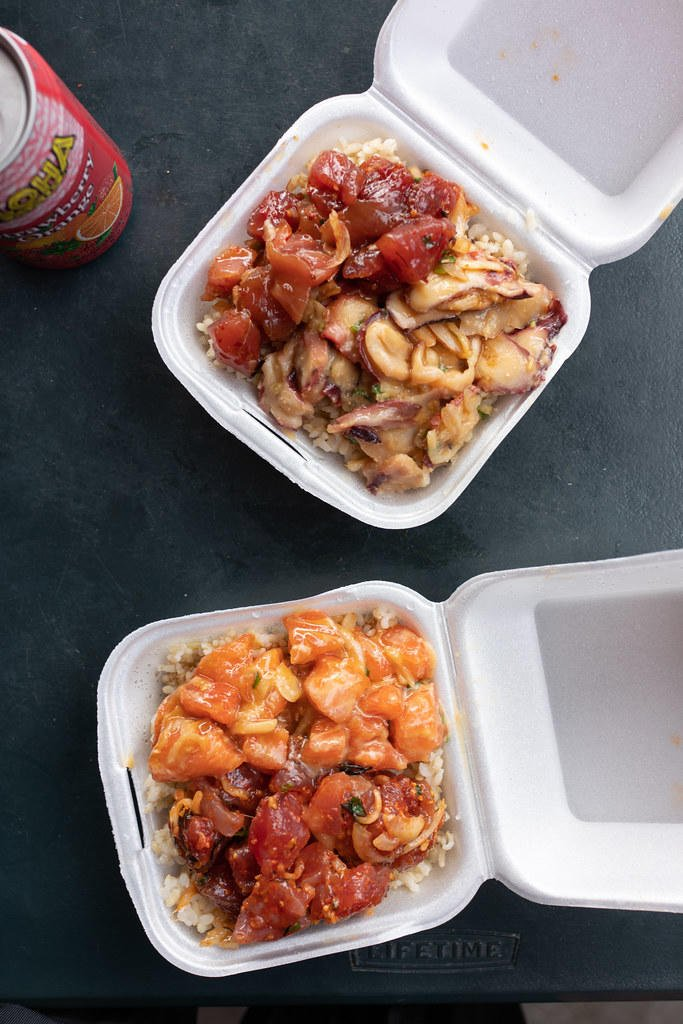 Poke bowls from Ono Seafood.