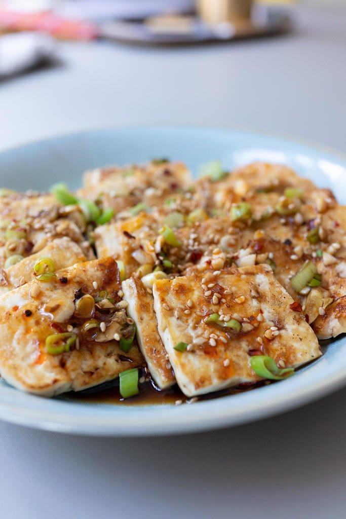 Pan Fried Tofu (With Garlic Soy Sauce)