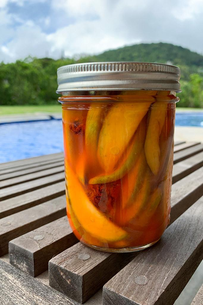 One of the many jars of Li Hing Pickled Mango this recipe makes ^_^
