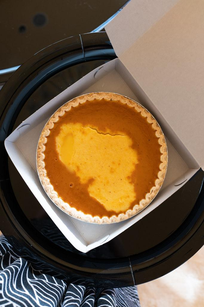 Custard and Pumpkin Swirl Pie from Epi-Ya Boulangerie & Patisserie (Oahu)