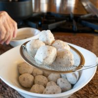 Boiled Fish Balls, ready to eat.