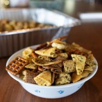 A bowl of Furikake Chex Mix