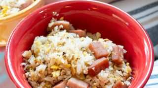 A bowl of Spam Fried Rice