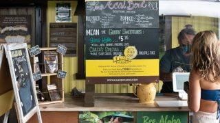 Ordering counter at Kahuku Farms.