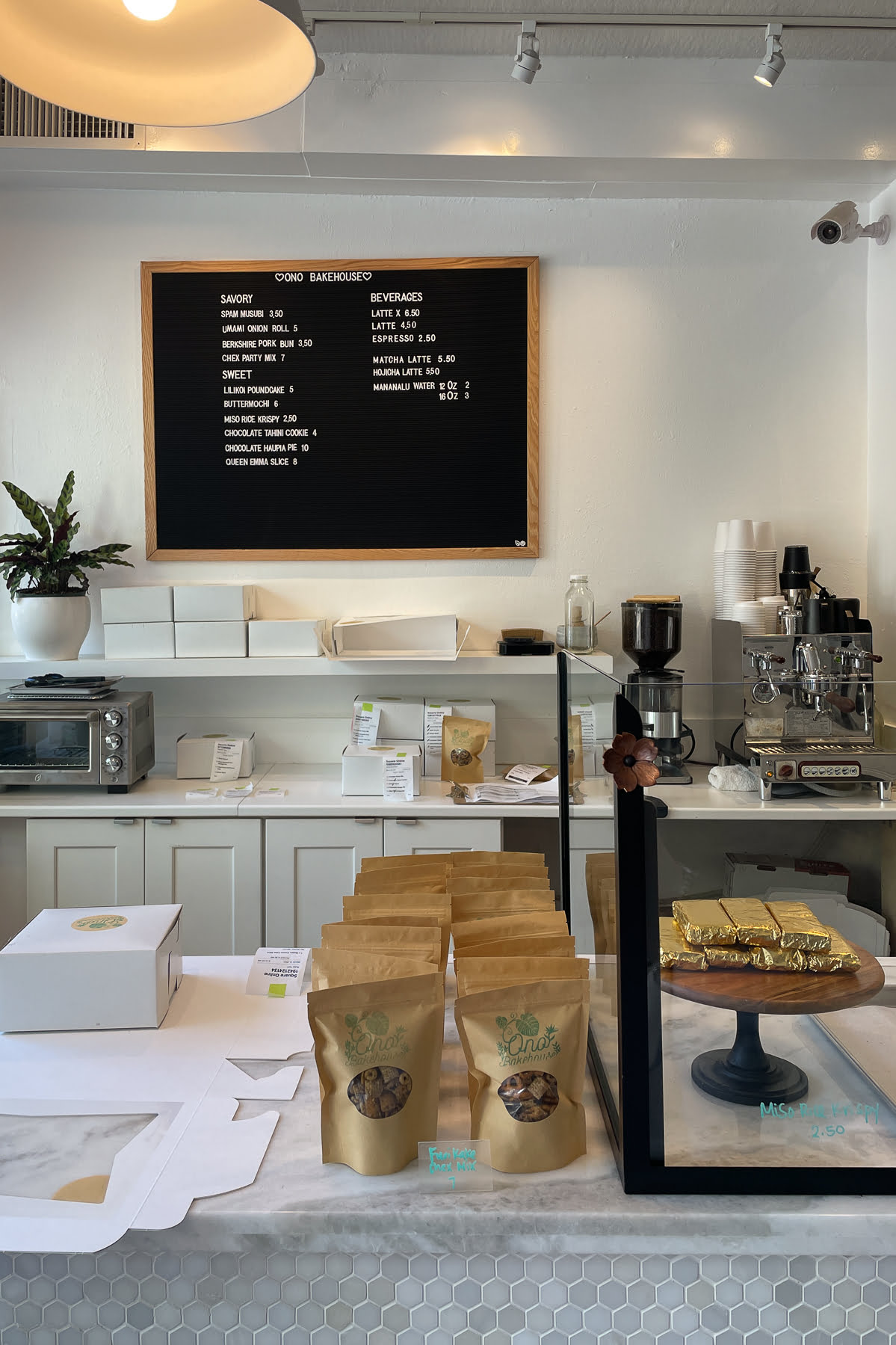Interior of Ono Bakehouse in Berkeley, California.