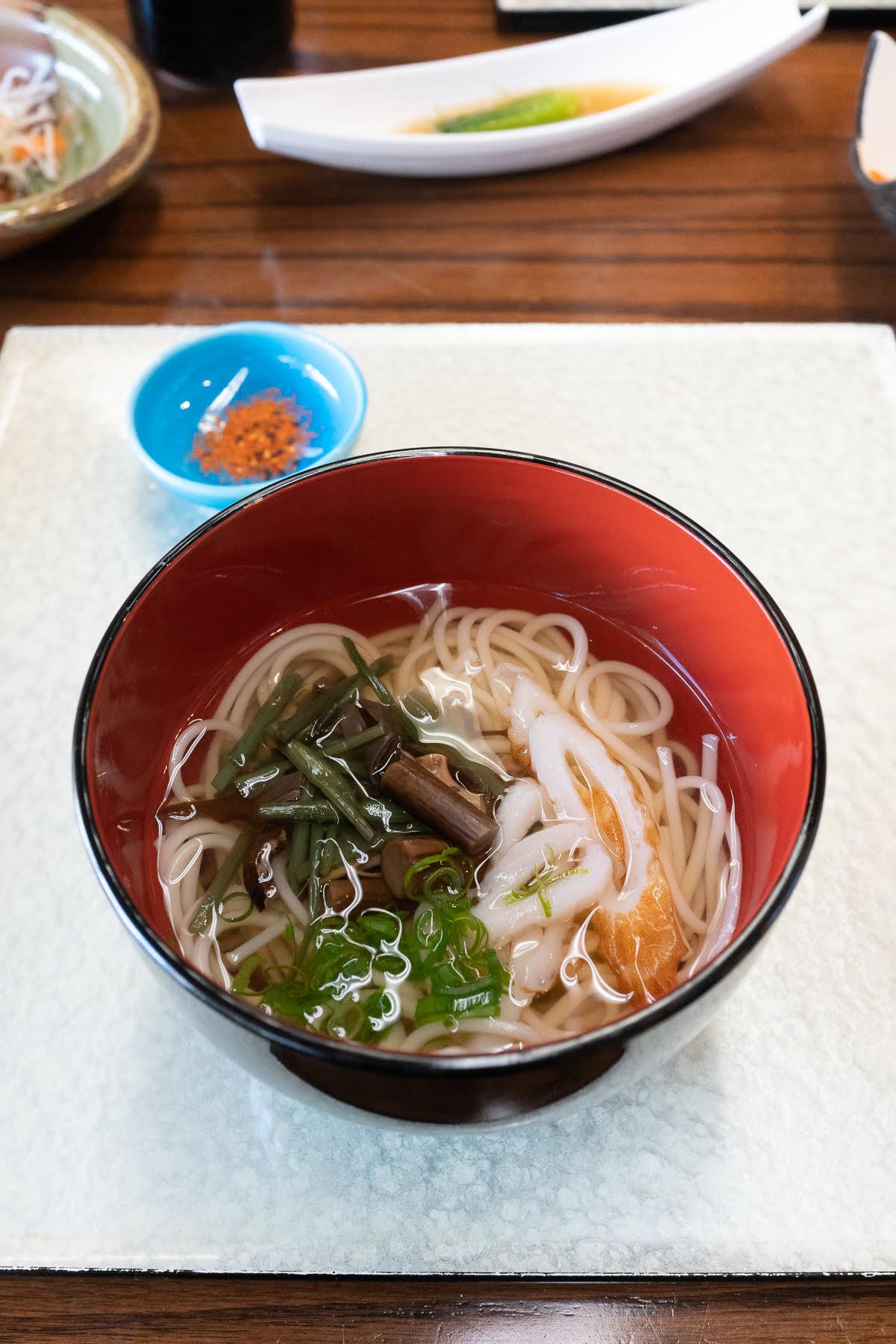 Udon from Restaurant Suntory.