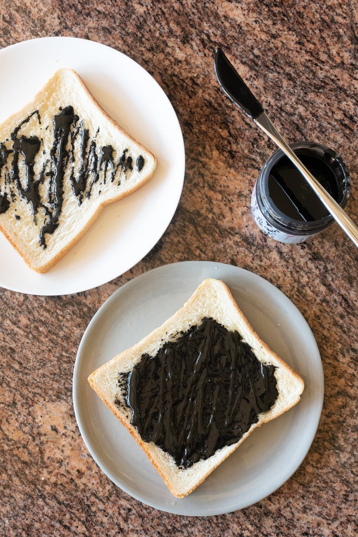 Black Sesame Toast, ready to eat!