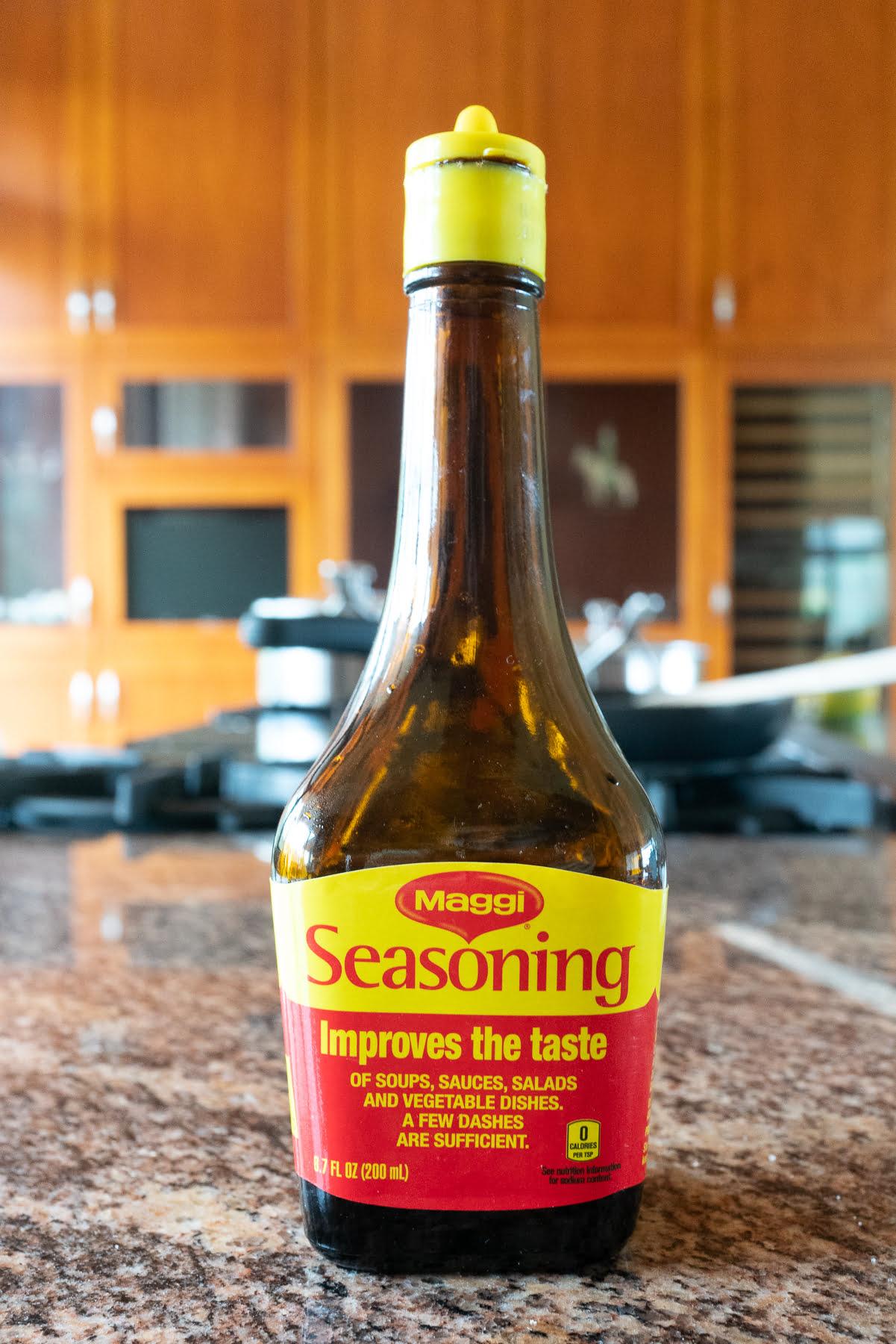 A bottle of Maggi seasoning