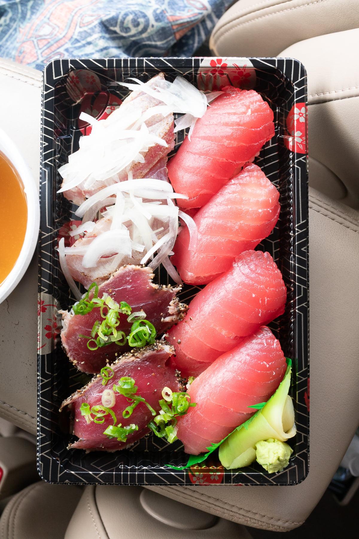Ahi nigiri set at Hawaii Sushi.