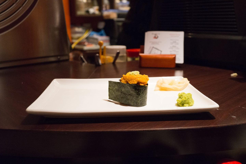 Uni nigiri at Sushi ii.