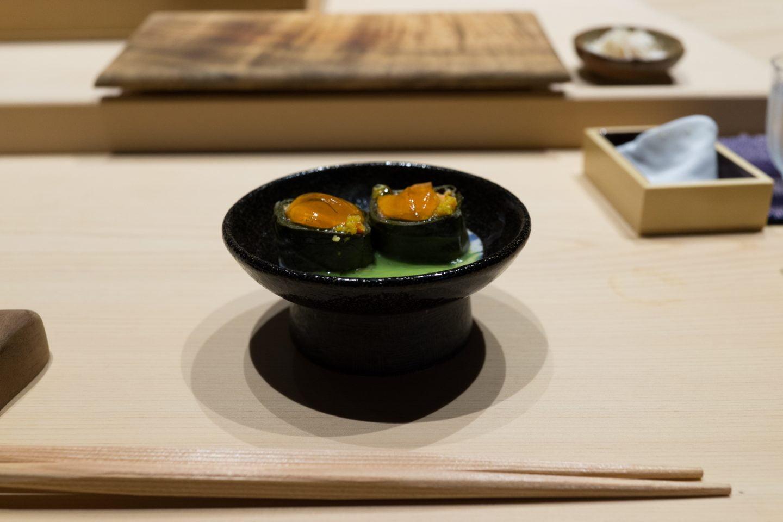 "The ""lau lau,"" one of the many omakase courses at Sushi Sho."