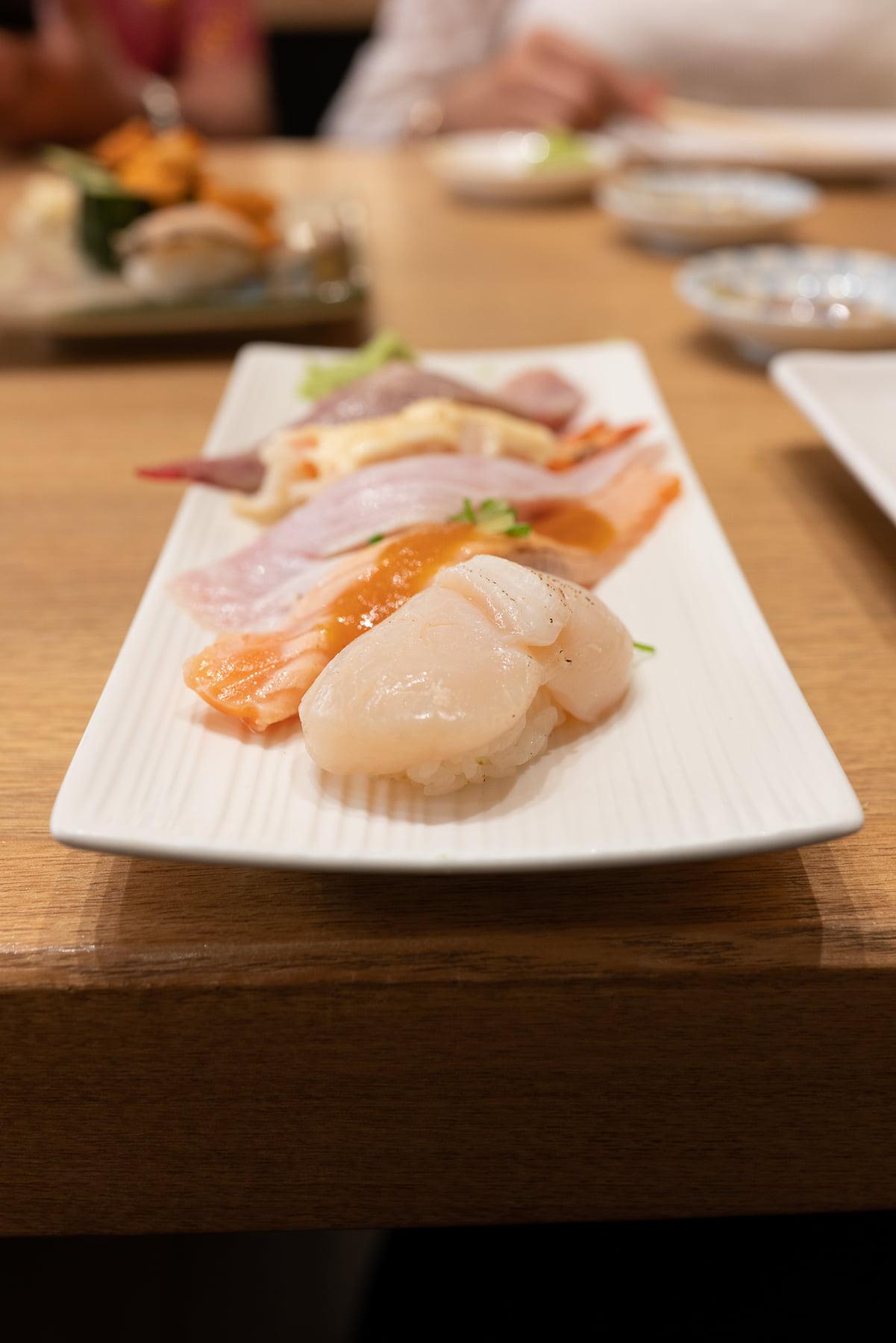Sushi at Katsumidori.