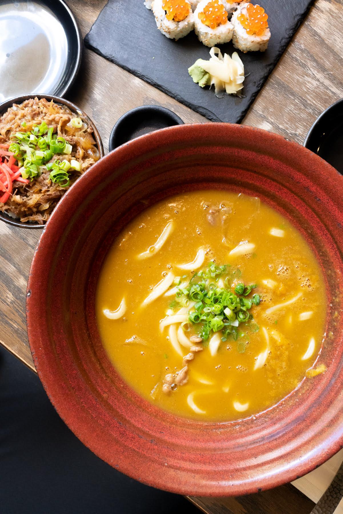 Curry udon at TsuruTonTan
